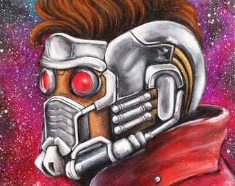 Guardians of the Galaxy - Starlord 9x12 painting