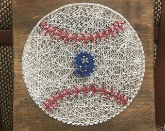 Baseball or Softball String Art