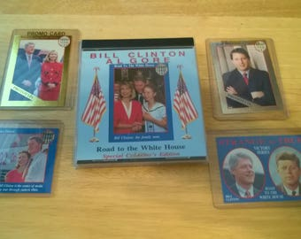 "1992 Bill Clinton and Al Gore ""Road to the Whitehouse"" Card Set."