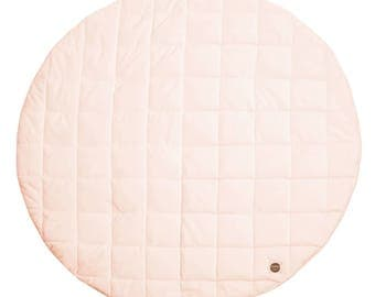Apricot Soft Pink Baby Play Mat / Quilted Play Mat / Padded Play Mat / Round Play Mat / Floor Mat / Baby Rug / Kid's Rug / Floor Rug