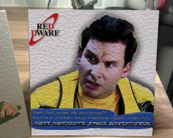 Rimmer Red Dwarf Card. Just because. Birthday. Congratulations - 1st Class!