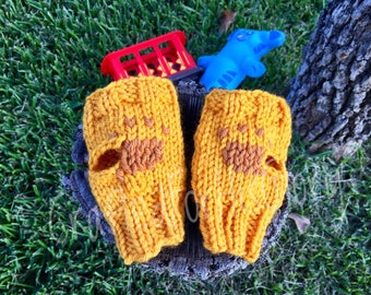 Daniel Tiger Costume Fingerless Mittens