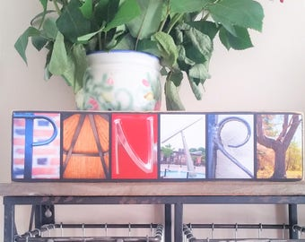 Pantry Letter Photography Sign - Pantry New home Gift - Pantry Decoration - Pantry Housewarming - Kitchen Pantry Gift - Pantry Home Decor