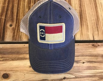 North Carolina Flag Hat – Blue