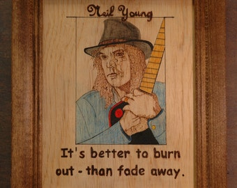 Neil Young - portrait and quote