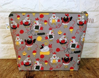 Knitting Project Bag, Project Bag, Project Bag Zipper, Zippered Knitting Bag, Knitting Bag, Yarn Bowl, Crochet Project Bag, Yarn Tote Bag
