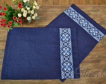 linen placemats, natural linen placemats, rustic linen placemats set of two, natural placemats