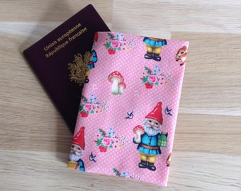 Passport happy gnome, pink and Red