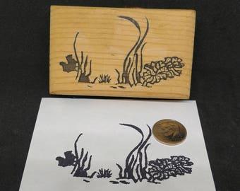 Seagrass rubber stamp