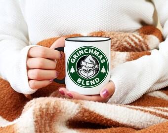 Grinchmas Blend Starbucks Mug, Christmas Grinch Mug, Funny Coffee Mug, Christmas Gift, The Grinch Mug, Funny Christmas Mug, Funny Grinch Mug