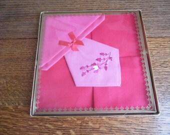 1960s Boxed Handkerchiefs by Delamare