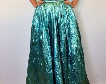 80s metallic prom dress