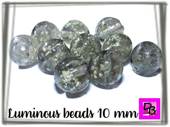 10 perles luminous [Silver] 10mm