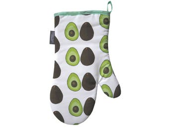 Hand Drawn Avocado Cotton Oven Mitt