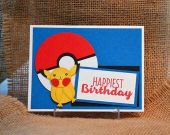 Handmade Pokeman Birthday Card, StampinUp! Card