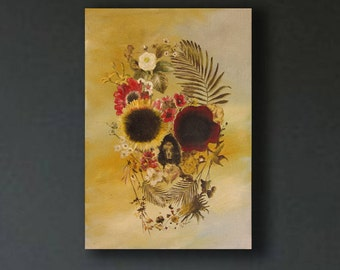 Oil Painting Abstract painting,Modern Painting, skull painting, skeleton art,
