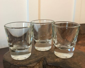 Vintage Libbey Glass Co. Clear Shot Glasses Set of 3