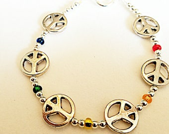 World Peace Bracelet - Silver