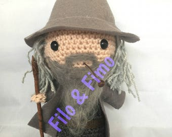 Gandalf - The Lord of the Rings - Chibi Doll Amigurumi