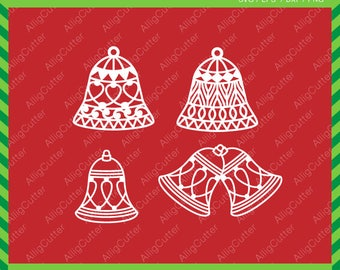 Christmas Bell svg Christmas Ornaments SVG DXF PNG eps xmas winter tree Cut Files for Cricut Design, Silhouette studio, Digital download