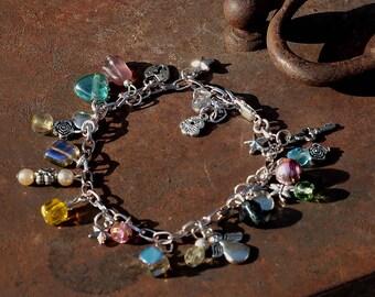 Bracelet with charms begging bracelet