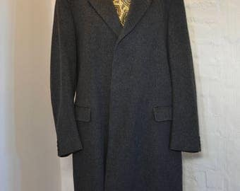 Vintage Gray Wool Cashmere Blend Coat Mens By Neville Kave Morrris Winter Coat Warm Wool Coat Gray Men's Winter Coat Wool Coat Size M Coat