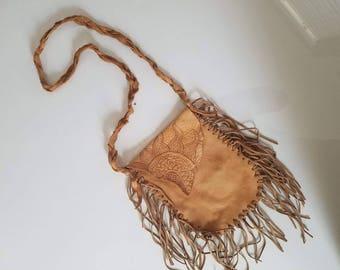 Mandala Fringe Leather Purse