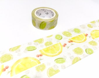 lime washi tape 5M lime fruit masking tape tropical fruit lime theme lime deco sticker tape fruit theme fruit party gift wrapping tape