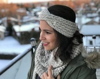 Chunky Loom Knit Twisted Turban Headband