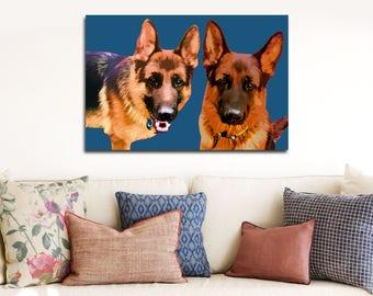 Pet portrait, Custom pet portrait, Gift for pet lover, Pet loss gift, Pop art pet portrait Dog owner gift Custom dog art Portrait from photo