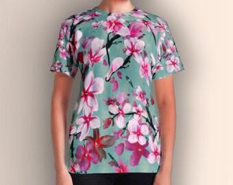 Watercolor Blossoms, Women's T-shirt