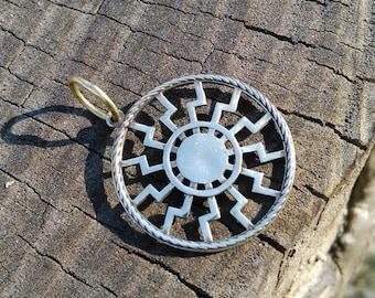 Black Sun Pendant, Slavic Amulet, Schwarze sonne, Pagan Jewelry, Black Sun symbol, Slavic Jewelry, Viking Jewelry, Esoteric symbols, Norse