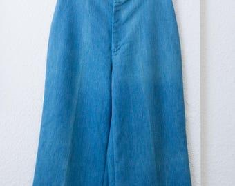 """70s Levis Wide Leg Culottes Capris  - 27"""" waist"""