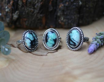 New Lander Turquoise Ring, sterling silver turquoise jewelry, new lander ring, new lander jewelry