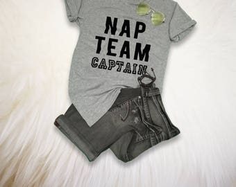Nap Team Captain Shirt Tumblr Tees Nap TShirt Hipster Grunge T Shirt Women Men Printed Tee Shirts Instagram Tops Birthday Gifts Present
