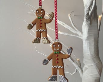 Gingerbread Man Christmas Decoration, Gingerbread Tree Ornament, Christmas Decorations, Gingerbread Decoration