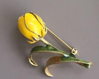 Vintage Yellow Flower Pin/Brooch