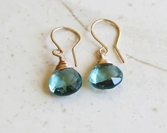 March Birthstone, Natural Aquamarine Earrings, Aquamarine Earrings Dangle, Natural Aquamarine Jewelry, Valentines Day Gifts For Her