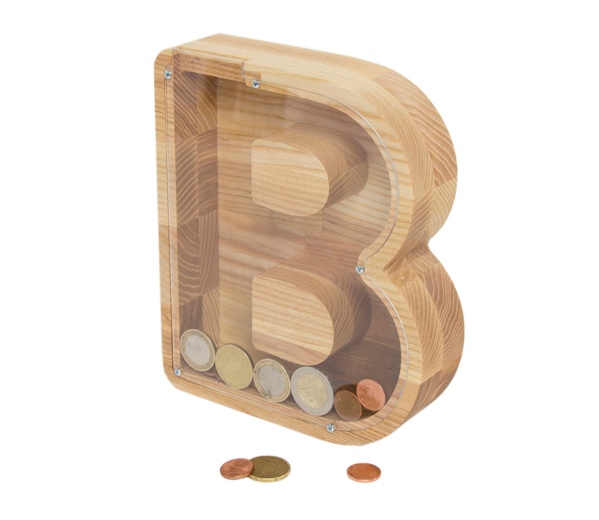 b brief geld box kind spardose spardose aus holz holz. Black Bedroom Furniture Sets. Home Design Ideas