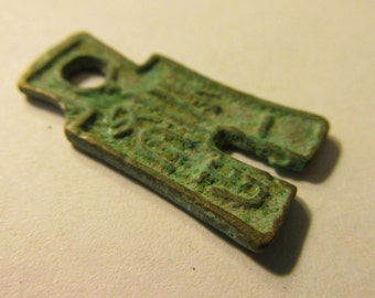 Mini Old Metal Chinese Coin Currency for Jewelry Making, 1""