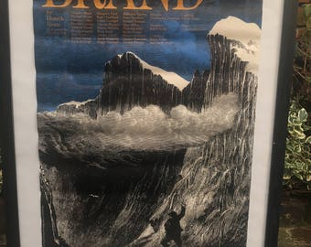 Vintage National Theatre Poster for Brand by Henrik Ibsen