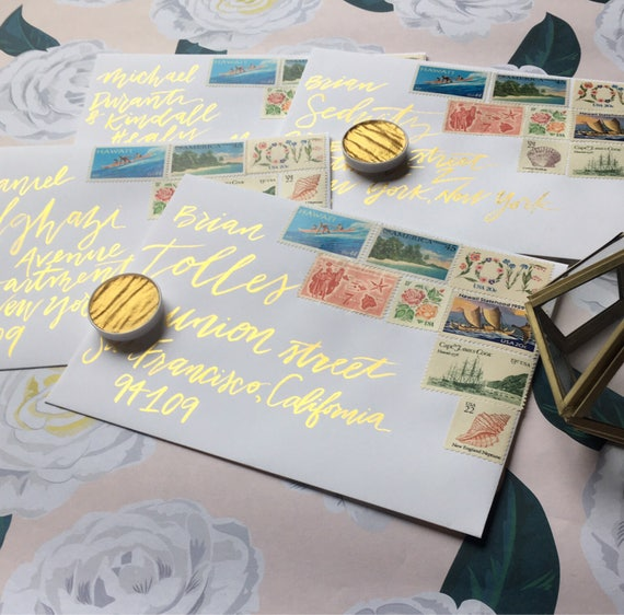 Gold Watercolor Calligraphy