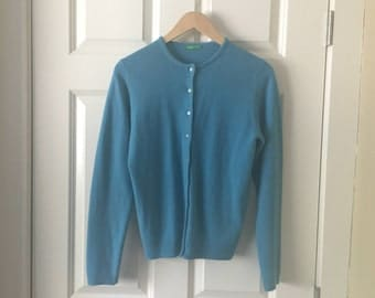 Retro teal cardigan