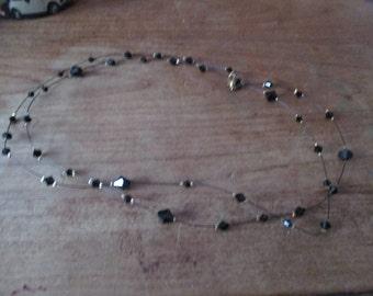 Black diamond pearl necklace.