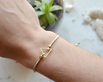 INFINITY triangle bracelet