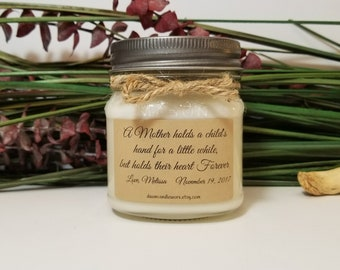 Mother of the Bride Gift - 8 oz Gift for Mom - Wedding Day Gift for Mom - Soy Candles Handmade - Wedding Favors - Wedding Candles