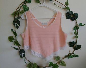 Vintage Wink Pink Crop Top