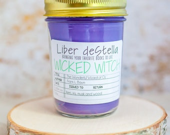 Wicked Witch - The Wonderful Wizard of Oz Inspired Candle - Book Candle - Book Gift - Book Lover - Bookish
