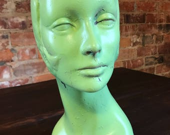 Vintage Flapper Girl Mannequin Head
