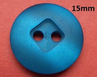 14 Buttons Blue 15 mm (1182) button